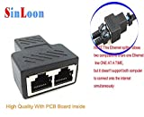 RJ45 Splitter Adapter,SinLoon RJ45 Female 1 to 2