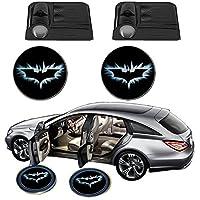 Science Purchase - Luz de proyector LED inalámbrica para puerta de coche inalámbrica (2x Night Cold Blue bat batman, puerta de coche, cortesía de bienvenida, logotipo de sombra fantasma, proyector láser)