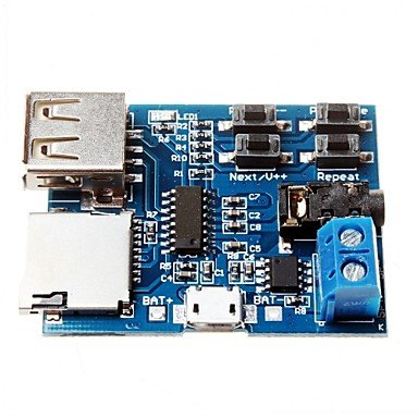 Amazon.com: TF Card U Disk MP3 Format Decoder Board Module ...