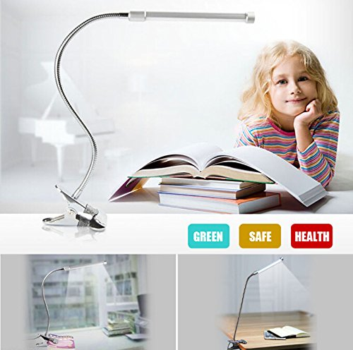 Price comparison product image Bestcompu® US Flexible USB Clip-on Table Lamp LED Clamp Reading / Study / Bed / Laptop / Desk Light