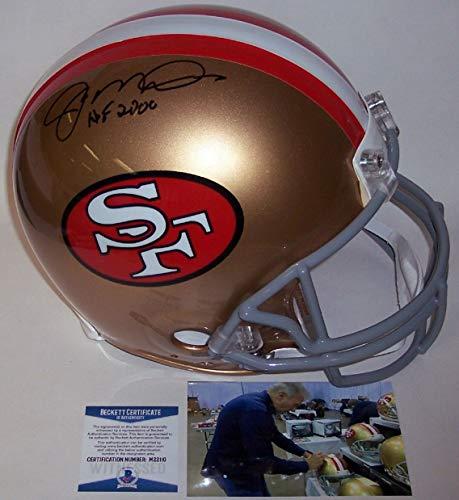 Autographed Official Throwback Helmet - Joe Montana - Autographed Official Full Size Riddell Authentic Proline Football Helmet w/HOF 2000 - San Francisco 49ers ThrowBack - BAS Beckett Authentication