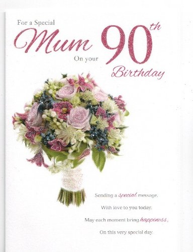 Mum 90th Birthday Card Amazoncouk Kitchen Home