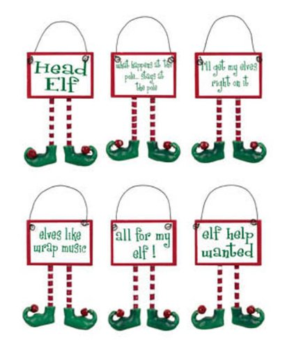 Ohio Wholesale Christmas Decor Elf Elves Ornaments 6pc Set 45597 -