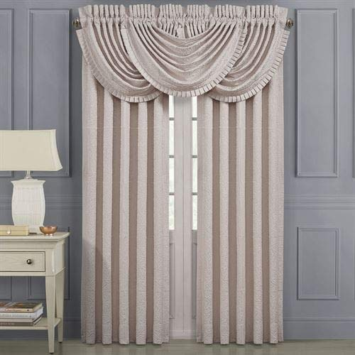 J Queen New York, Inc. Rigoletto II Wide Tailored Curtain Pair Pale Pink 100 x ()