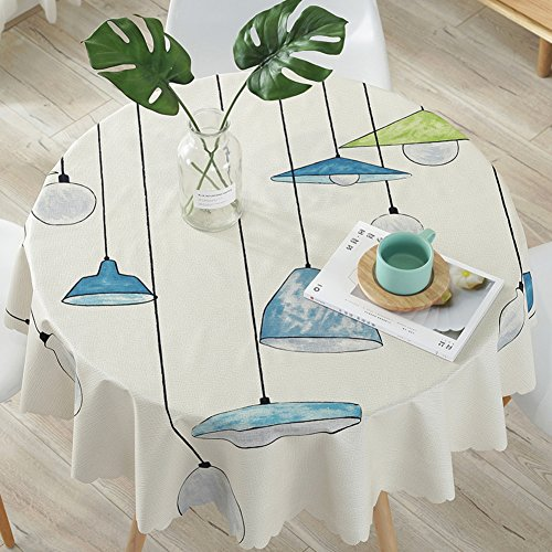 NgFTG Vinyl Round Rectangular Table Cover, Custom Wipe Clean PVC Tablecloth, Oil-Proof Waterproof Stain-Resistant Table Linens Mat-c Diameter 80cm(31inch)