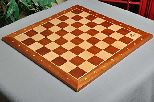 Mahogany Maple Chess Board - 4