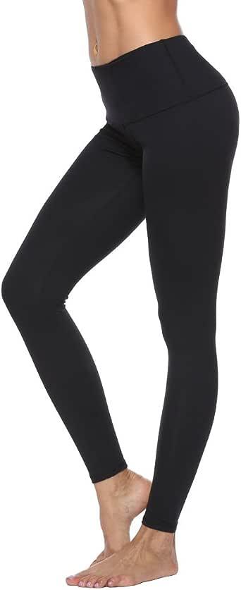 RURING Women's High Waist Yoga Pants Tummy Control Workout Running 4 Way Stretch Yoga Leggings