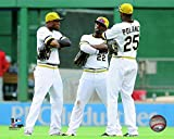 "Starling Marte, Andrew McCutchen, Gregory Polanco Pittsburgh Pirates 2014 MLB Action Photo (Size: 8"" x 10"")"