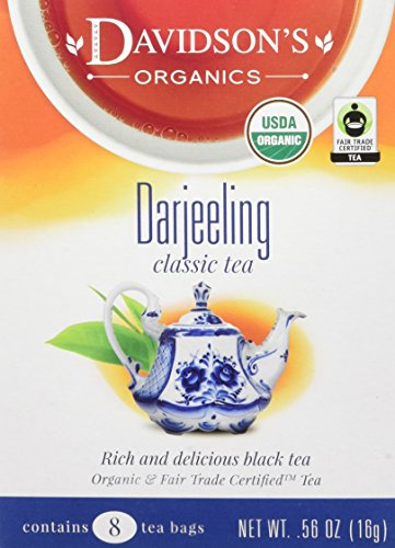 Davidson's Tea Darjeeling, 8-Count Tea Bags (Pack of 12)