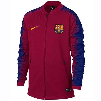 b29c79b6c3a7 Amazon.com   Nike 2018-2019 Barcelona Anthem Jacket (Noble Red) - Kids    Sports   Outdoors