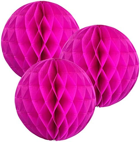 Set of 3, 4inch, Baby Pink Click for More Colors /& Sizes! Just Artifacts Tissue Paper Honeycomb Ball