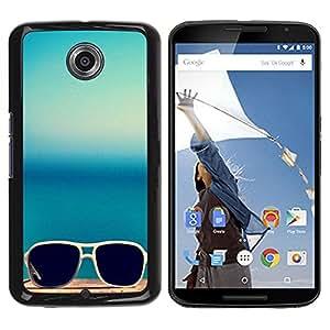 Be Good Phone Accessory // Dura Cáscara cubierta Protectora Caso Carcasa Funda de Protección para Motorola NEXUS 6 / X / Moto X Pro // Sunglasses Summer Sea Blue Beach