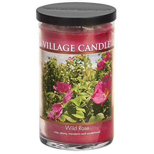 - Village Candle Wild Rose 24 oz Glass Tumbler Scented Candle, Large