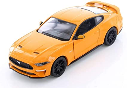 2018 Ford Mustang Gt >> Amazon Com Showcasts 2018 Ford Mustang Gt Hard Top Orange