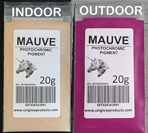 PhotoChromic Pigment Changes Colors When Exposed to Sunlight or UV Light, and reverts to its Original Color When Sunlight is Blocked. (2g, Mauve)