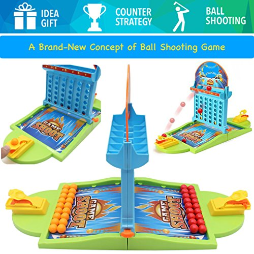 PinSpace Board Game - A Concept of Ball Shooting Game -2018 Ball Shooting Travel Gamefor Kids Adults Party Family Game, Idea Gift for Kids 3 years and Up by PinSpace