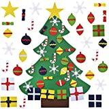 FunPa 3.2ft DIY Felt Christmas Tree with 28 PCS Ornaments Wall Decor for Kids Xmas Gifts Home Door Decoration