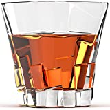 Willow & Everett Set of 4 Cubed Shaped Whiskey Glasses (Pack of 4)