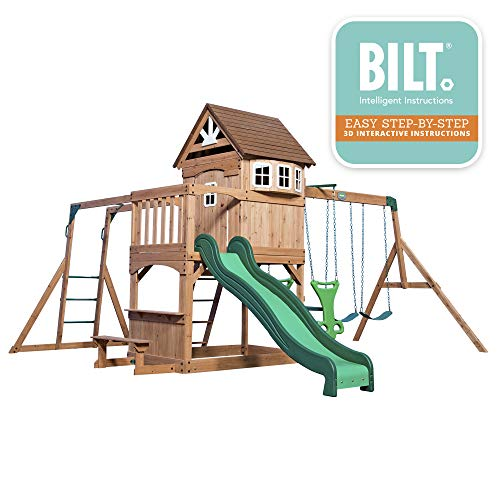 Buy kids outdoor playhouse and swingset