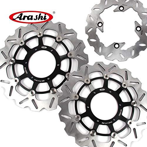 (Arashi Front Rear Brake Disc Rotors for HONDA CBR600RR 2003-2015 Motorcycle Replacement Accessories CBR 600 RR CBR600 600RR 2010 2011 2012 2013 2014 Black CBR1000RR 04-05)