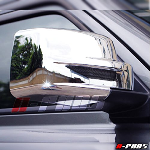 A-PADS Chrome Mirror Covers for Dodge NITRO 2007-2012 / Jeep LIBERTY 2008-2012 & PATRIOT 08-2014 - FULL Chromed Mirrors PAIR Jeep Liberty Chrome Mirror Covers