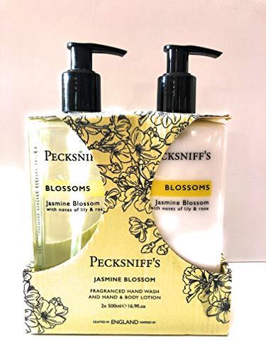 (Pecksniffs Jasmine Blossom Hand Wash And Body Lotion 2 x 8.4 Oz )
