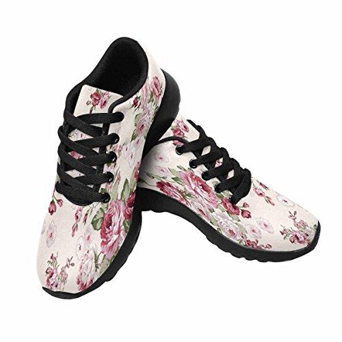 Interessante Donna Da Jogging Da Corsa Sneaker Leggero Go Easy Walking Comfort Sport Scarpe Da Corsa Rose Bouquet Flower Pattern Multi 1