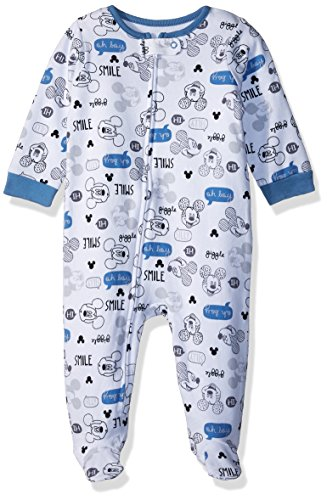 Disney Baby Boys Mickey Mouse Newborn Sleeper, Blue, 6/9 Months