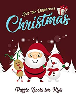Spot the Differences - Christmas: Puzzle Books for Kids - Kindle edition by Fun Notebooks and ...