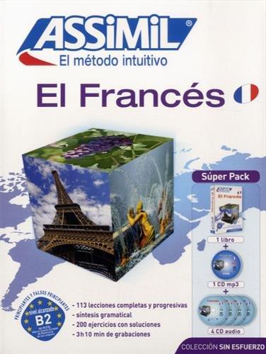 Metodo ASSIMIL - FRANCES - Superpack (1 libro + 4 CD audio + 1 CD MP3)  [Assimil] (Tapa Dura)