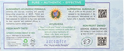 Auromere Ayurvedic Herbal Toothpaste, Fresh Mint 4.16oz (Pack of 2) by Auromere (Image #2)