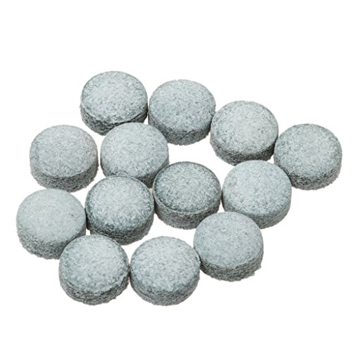 simhoa Pack of 50pcs Pro Glue-on Pool Snooker Billiard Cue Tips - 9/10/ 11mm - Gray, 11mm