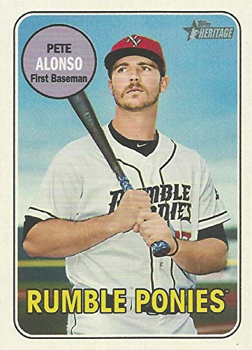 (2018 Topps Heritage Minors - Pete - Peter Alonso - Rumble Ponies - New York Mets Prospect Baseball Rookie RC Card #108)