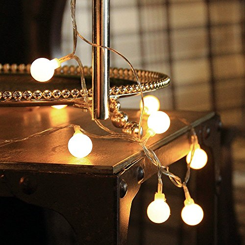 Innoo Tech Led String Lights Globe,100 Led Indoor Christmas Lights 31V Safety Warm White Fairy ...