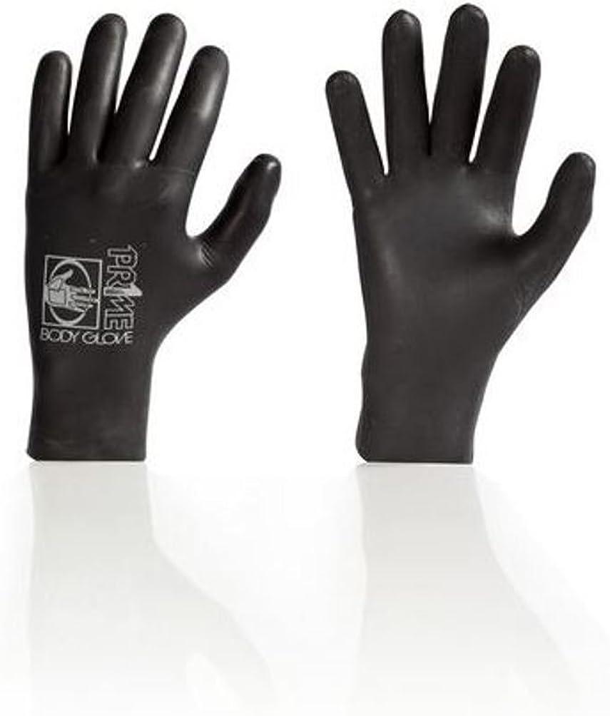 New Body Glove Mens Prime Five Finger Glove 3Mm Rubber Waterproof Black