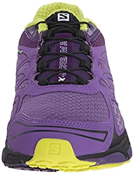 Salomon Women's X-scream 3d W Trail Running Shoe, Rain Purplecosmic Purplegecko Green, 9 B Us 3