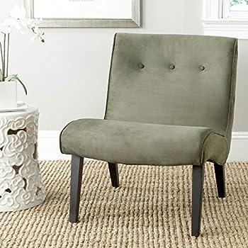 Safavieh Mercer Collection Owen Mid Century Modern Grey Lounge Chair