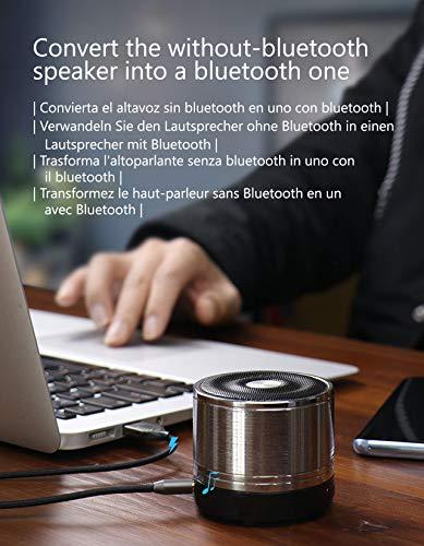 Hagibis Receptor Bluetooth 50kits De Manos Libres Para Automovil Bluetooth Audio Aux 35mm Jack Receptor Inalambrico De Musica Estereo Para Altavoces De Automovil Y Hogar