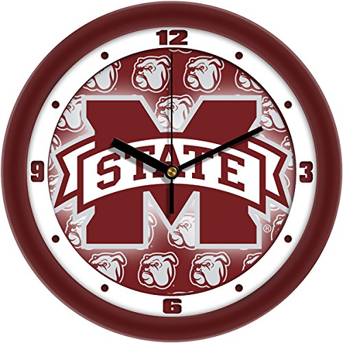 SunTime Mississippi State Bulldogs - Dimension Wall Clock Bulldogs Dimension Wall Clock