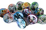 12 Plants Vs Zombies Garden Warfare ring cupcake toppers - birthday party favor