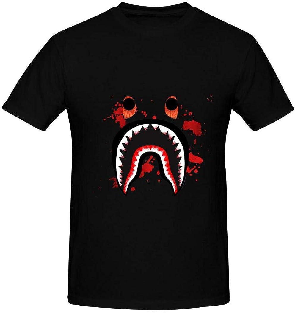 Bap-e T-Shirts Graphic,Comfort Cotton T-Shirts,Crew Neck Short Sleeve Undershirt for Men