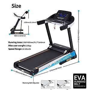 Tomasa Treadmill eléctrica de equipo de ejercicio alfombra de ...