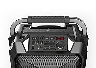 Monster Rockin' Roller 3 100W Portable Indoor/Outdoor Water Resistant Wireless Speaker with TWS (Connect 2 Speakers Wirelessly) Technology and NOAA Weather Radio