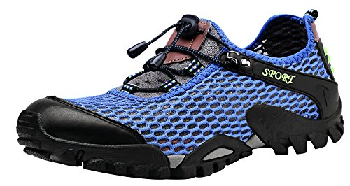 Louechy Men's Ponrea Mesh Hiking Shoes Boating Water Shoes Outdoor Walking Sneakers