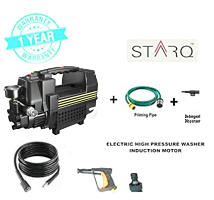 STARQ High Pressure Washer Cleaner W2 1800 Watts/100-120 bar Induction  Type,auto Stop/Start Copper Winding with Foam Gun