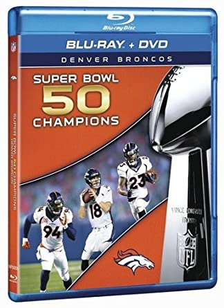Amazon.com  NFL Super Bowl 50 Champions  Denver Broncos  Blu-ray ... 243dddfdb