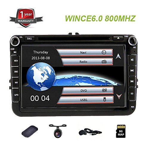 GPS Navigation 8 inch HD Touch screen Volkswagen car headunit stereo auto Audio Video DVD Player for VW
