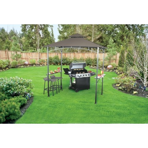"""Living Accents Metropolitan Patio Furniture: Living Accents Steel Frame Grill Gazebo 96.1"""" L X 59.9"""" W"""