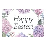 CGSignLab | ''Easter Floral'' Repositionable Opaque White 1st Surface Static-Cling Non-Adhesive Window Decal (5-Pack) | 30''x20''