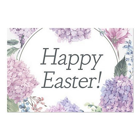 CGSignLab | ''Easter Floral'' Repositionable Opaque White 1st Surface Static-Cling Non-Adhesive Window Decal (5-Pack) | 30''x20'' by CGSignLab